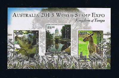 Tonga Stamp Souvenir Sheet for the Australia World Stamp Expo