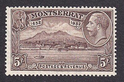Montserrat  1932  5/- chocolate  mint hinged