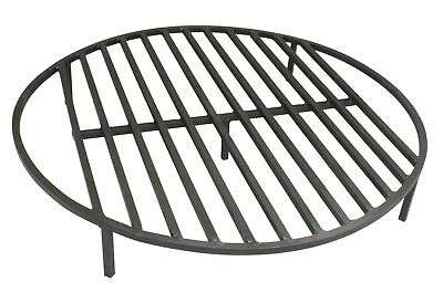 Round Fire Pit Grate 36'' Heavy Duty Grill Cooking Campfire Camp Ring 1/2