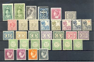 CURACAO- 32 STAMPS -- CV €195 - * MH VF