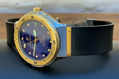 FULL SET Gents 1997 18k Gold/Steel 36mm HUBLOT HDM Fusion 300m Auto Divers Watch