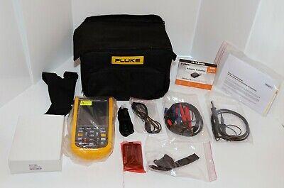 Fluke 124bs Dual Input Industrial Scopemeter Handheld Oscilloscope 40mhz Scc