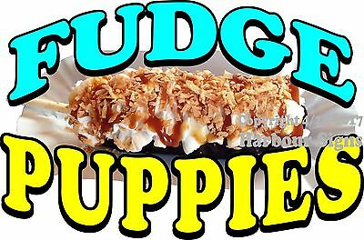 Choose Your Size Fudge Puppies Decal Food Truck Concession Sticker