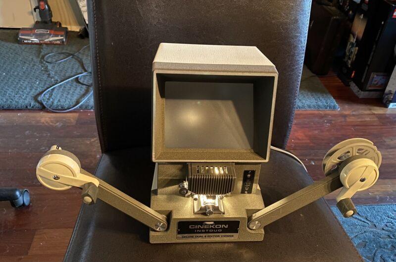 CINEKON INSTDUO D-300 Deluxe 8mm Editor Viewer & Qualide 3-way Film Splicer