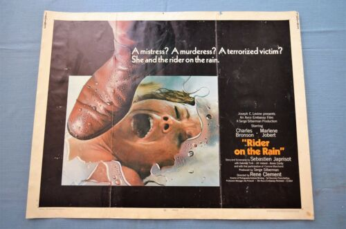 "Vintage Movie Poster,  ""Rider on the Rain"" (1970)"