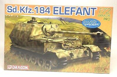 Dragon Sd.Kfz.148 Elefant Armor Pro Tank 1:72 Scale Plastic Model 7253 SEALED