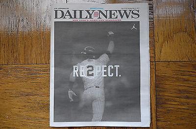 NY New York DAILY NEWS May 13 2017 Newspaper Yankees Derek Jeter Tribute Cover