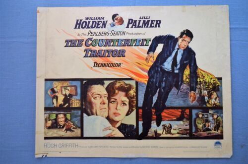 """Vintage Movie Poster,  """"The Counterfeit Traitor"""" (1961)"""