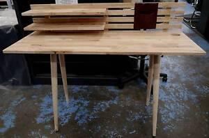 New Scandi Danish Natural Timber Home Office Ballet Desks Melbourne CBD Melbourne City Preview