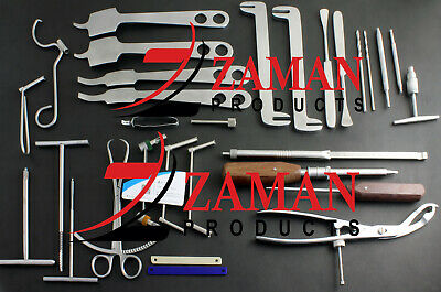 Large Fragment 30 Pcs Set Orthopedic Veterinary Instruments By Zaman Products