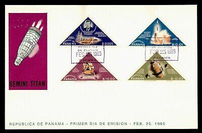 DR WHO 1965 PANAMA FDC SPACE JOHN F KENNEDY JFK TRIANGLE COMBO g21852