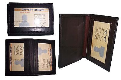 Lot Of 3 New Leather Business Card Case Id Credit Card Case Windows Card Case Bn