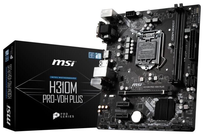 MSI H310M PRO-VDH PLUS LGA1151 Intel H310 SATAIII USB3.0 Micro-ATX Motherboard