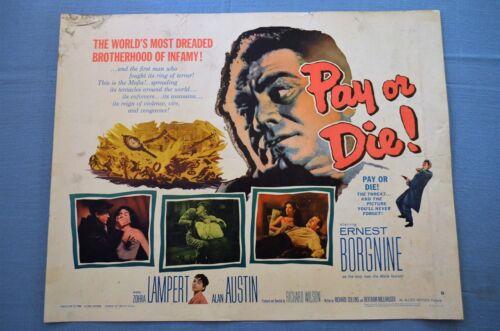 """Vintage Movie Poster, """"Pay or Die"""" (1960)"""