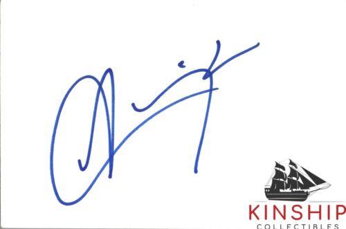 Aaliyah signed 4x6 Index Card JSA LOA AUTO GRADE 10 Rare Auto Singer d.2001 Z584