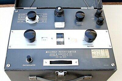 Leeds And Northrup Millivolt Potentiometergalvanometer Cat. No. 8690 In Case