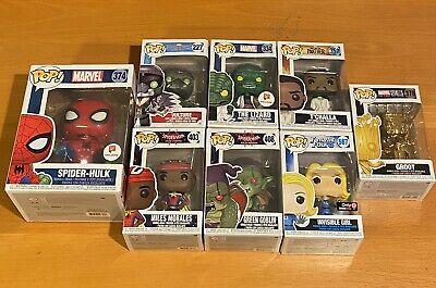 Marvel Spider-Man Funko Pop 8pc Lot Spider-Hulk