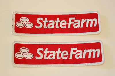2 State Farm Home   Auto Insurance Company Cloth Patch New Nos 1980S