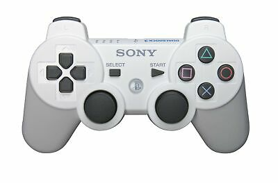 PS3 Dualshock 3 Wireless Controller - White video Game  - $56.41