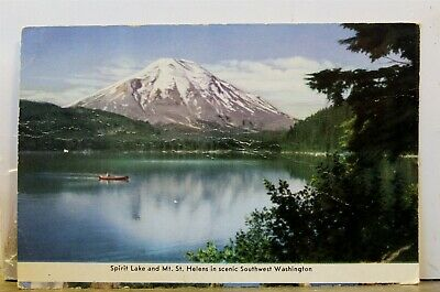 Washington WA Mt St Helens Spirit Lake Postcard Old Vintage Card View Standard