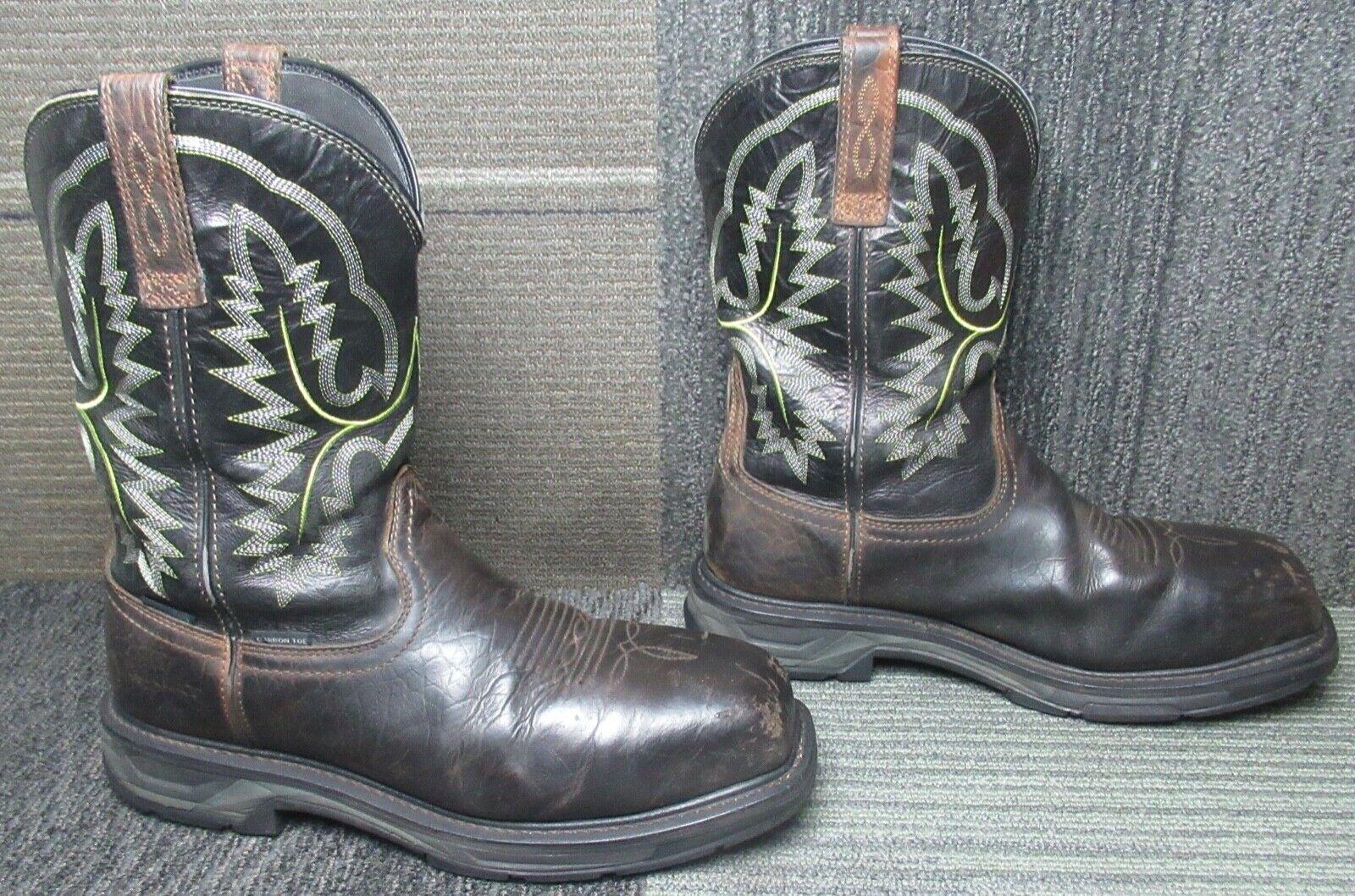 Mens ARIAT Workhog XT Waterproof Carbon Toe Leather Work Boots Sz 11.5 D - $36.00