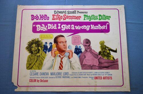 "Vintage Movie Poster, ""Boy, Did I Get a Wrong Number!"" (1966)"