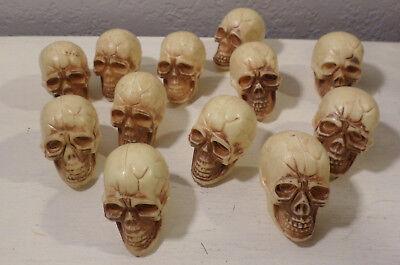 12 SM SKELETONS SKULLS HEADS CRAFTS WREATHS JARS PROPS HOME DECOR HALLOWEEN NEW (Halloween Decor Crafts)