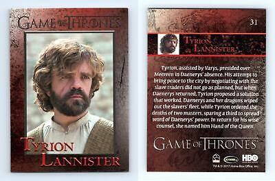 Tyrion Lannister #31 Game Of Thrones Season 6 Rittenhouse 2017 Trading Card