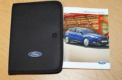NEW SHAPE FORD FOCUS HANDBOOK OWNERS MANUAL 2014-2017 PACK