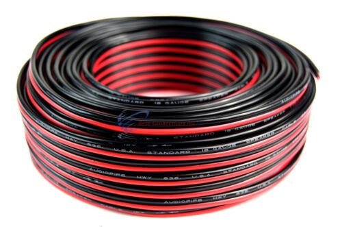 Audiopipe 100' Feet 18 GA Gauge Red Black 2 Conductor Speake