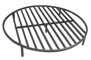 Round Fire Pit Grate 30'' Heavy Duty Grill Cooking Campfire Camp Ring 1/2