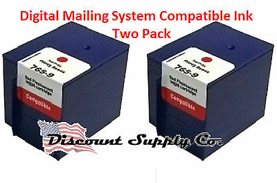 Digital Mailing System 765-9 Pitney Bowes Red Postage Ink 2pktwo Pack