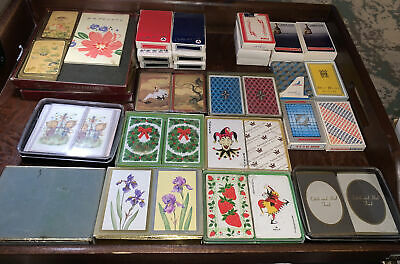 Lot of 38 Decks Of Vintage Playing Cards - Stardust, TWA, Piedmont, Congress,