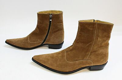 Boohoo Men's Imitation Solid Suede Western Boots SC4 Tan Size US:11 UK:10