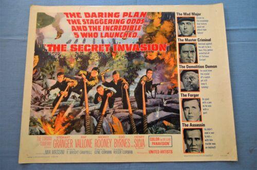 "Vintage Movie Poster,  ""The Secret Invasion"" (1964)"