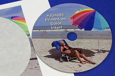 Cd Dvd Blu-ray Full Face Inkjet Gloss Disc Labels 50 Sheets 100 Labels Jg4060