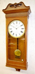 Antique Oak American Clock Co. Wall Regulator Clock. Dial signed Ti... Lot 174A