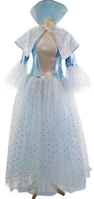 Pantomime-Christmas-Drag-BLUE FAIRY-TALE ICE QUEEN COSTUME Ladies & Men's - Blue Ice Queen Kostüm