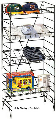 Retails Black 4 Shelves Wire Floor Display Rack 55 H X 22w X 13 Deep