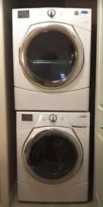 Excellent Working Front Load Steam Washer and Dryer Set