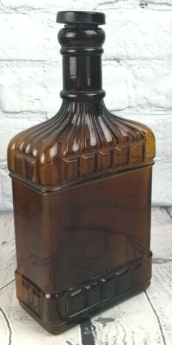 Antique R Monarch Amber Brown Whiskey Bottle with Glass Cork Owensnoro Kentucky