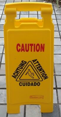 Wet Floor Sign Rubbermaid 6112 2 Inches 2 Sided