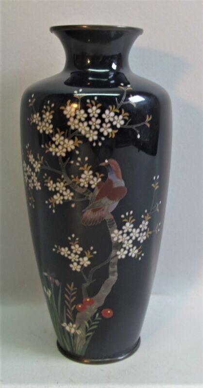 Very Fine JAPANESE MEIJI-ERA Art Nouveau Cloisonne Vase  c. 1900  antique