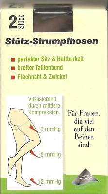 2 Paar: Stützstrumpfhose in 40 DEN versch. Farben Gr. 36-40 bis 52-54 ()