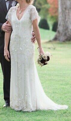 Jenny Packham Designer Wedding dress AZALEA size 2 origanally purchased in PARIS