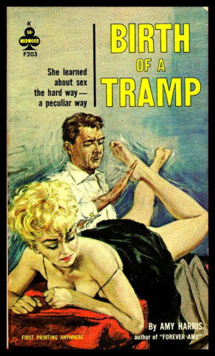 Birth of a Tramp FRIDGE MAGNET 6x8 Sexy Pulp Fiction Art Poster Canvas Print