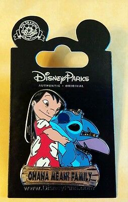 LILO & STITCH Ohana Means Family Disney Park Pin - NEW