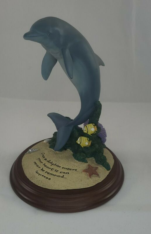 2002 Wyland Dolphin Sculpture Encore E16000 Inspired By Dolphin World
