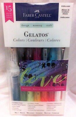 NEW Faber-Castell GELATOS 15 Pieces Mix & Match 12 Colors & 3 Tools - 770175 ()