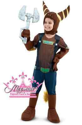 Ratchet And Clank Halloween Costume (NEW! High Quality Ratchet & Clank Ratchet Boys Halloween Cosplay Costume S)